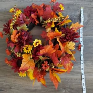 Dj's Faux-ever Flowers Accents - Fall Harvest Wreath